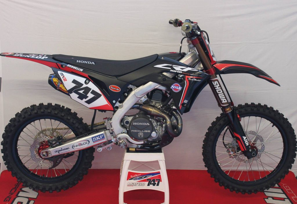 cervellin presenta la sua honda crf martin racing mxreport. Black Bedroom Furniture Sets. Home Design Ideas